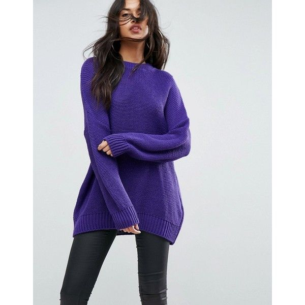 ASOS Oversized Chunky Jumper ($45) ❤ liked on Polyvore featuring ...
