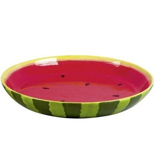 Obstschale Wassermelone Schale Melone Keramik 34 cm #potteryglazes