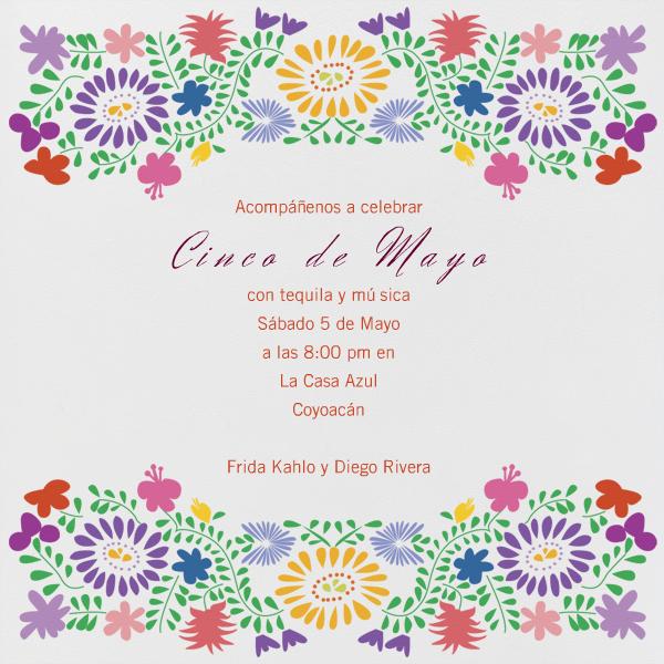 Paperless Postcard Oaxacan Wedding Ivory Invitation