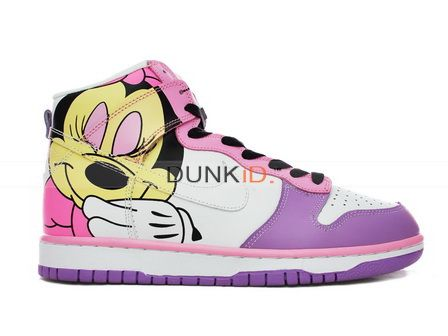 promo code 675e7 fc3e9 Nike Dunk High Custom Brass Monky Foto Minnie Mouse Shoes