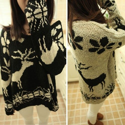 Discount China china wholesale Women Knit Crewneck Sweater Pullover Batwing Loose Fawn Patterns Retro Top Cardigan [33192] - US$20.79 : DealsChic
