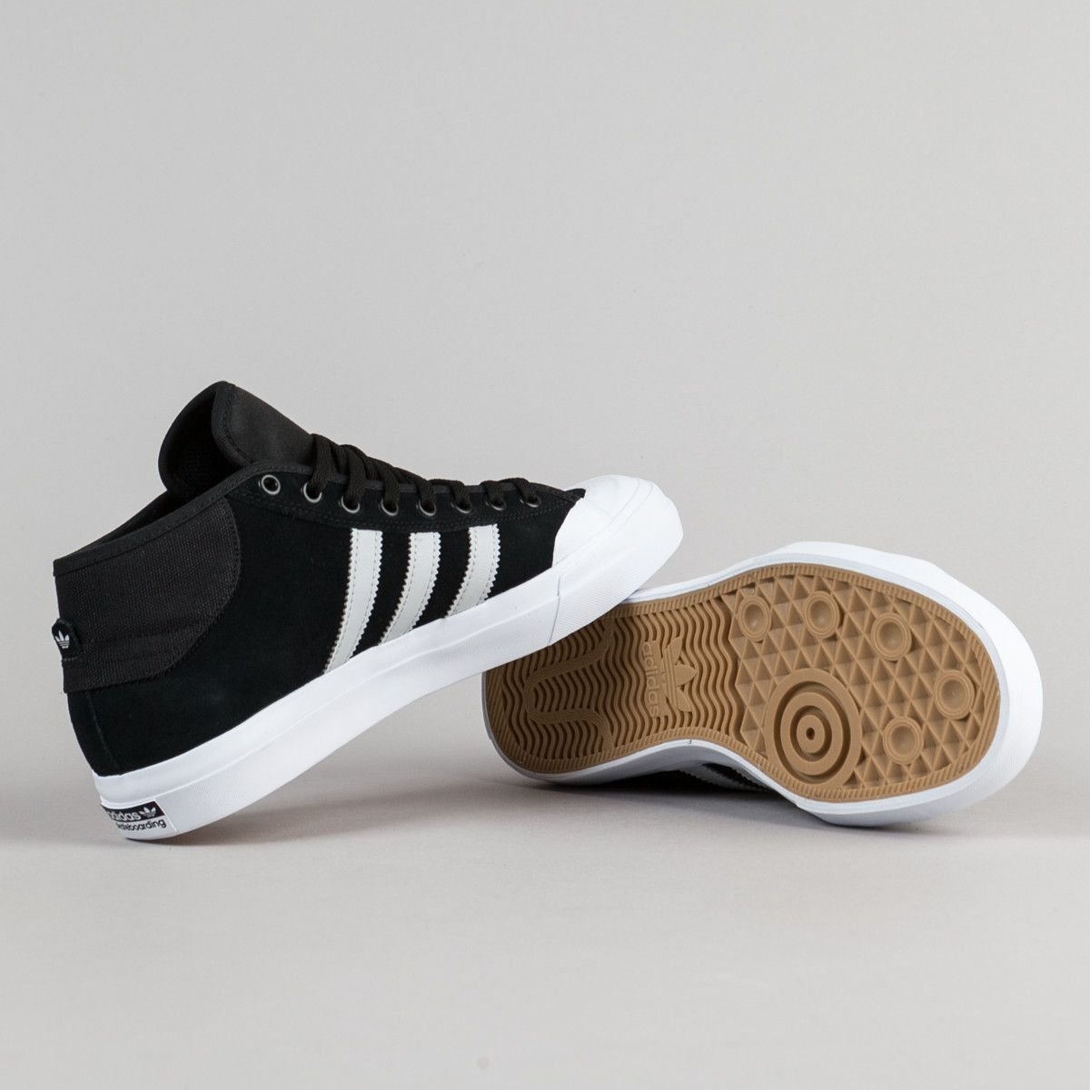 Adidas Matchcourt Mid ADV Shoes - Core Black   Grey   White ... c76a5ead2