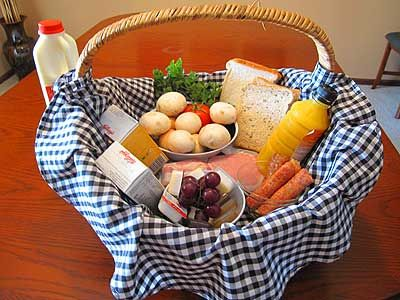 Blue Summit Cottages Food Hampers Available Food Hampers Breakfast Basket Diy Breakfast