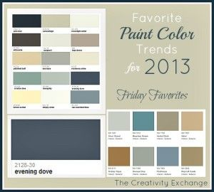 popular interior colors 2013 room paint ideas 300x270 2013 top paint