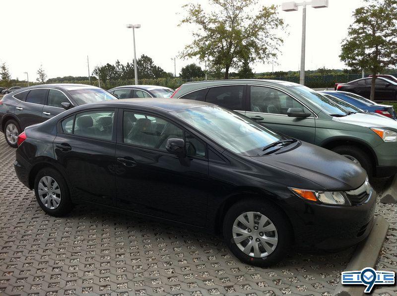 2012 Honda Civic Sedan   Crystal Black Pearl