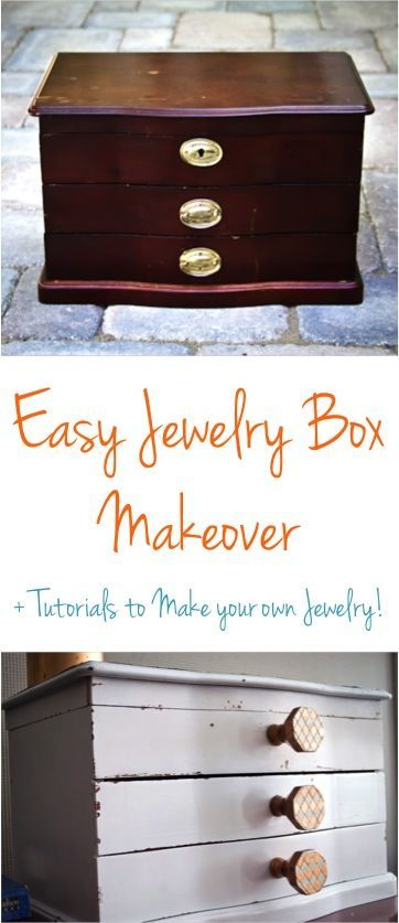 DIY Jewelry Box Makeover Youll love this simple tutorial for