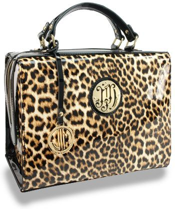 Leopard Print Patent Travel Case Only 20 50 W 100 Min Order