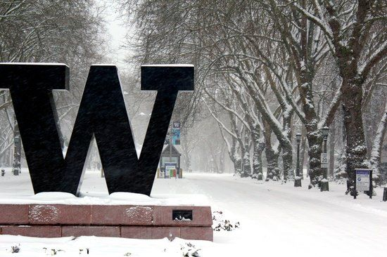 Main Entrance To The University Of Washington Campus University Of Washington University Of Washington Huskies Uw Huskies