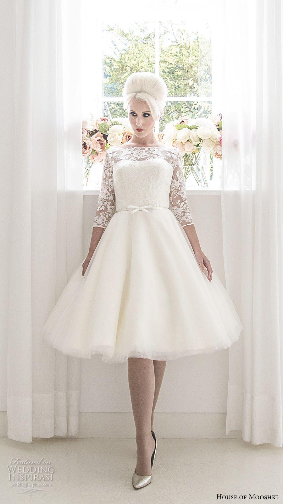 House Of Mooshki 2017 Wedding Dresses Wedding Inspirasi Short Wedding Dress Fluffy Wedding Dress Tea Length Wedding Dress [ 1604 x 900 Pixel ]