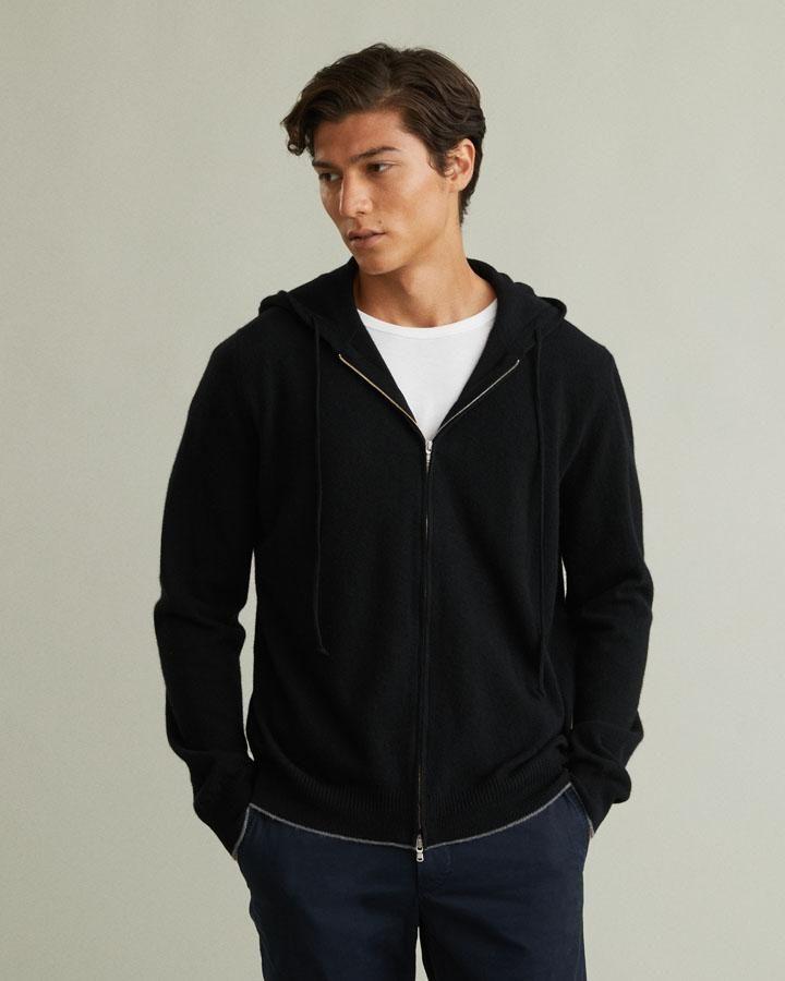 Romolo Wool Zip-Up Hoodie Sweater - XS In 2019