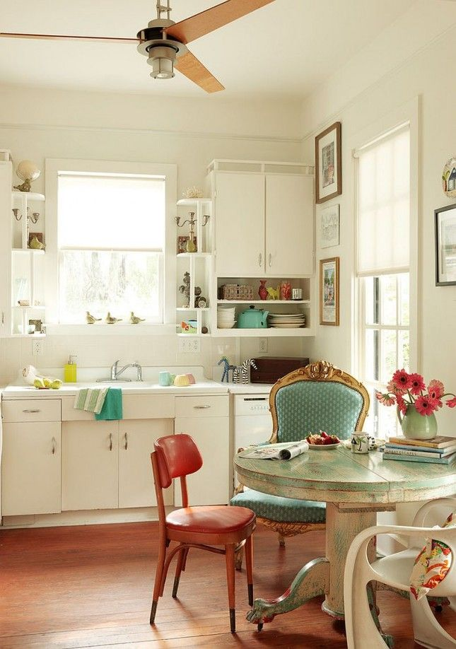 Give A Retro Kitchen Touch Of Rustic Flair