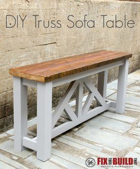 Diy Sofa Table Diy Sofa Table Woodworking Furniture