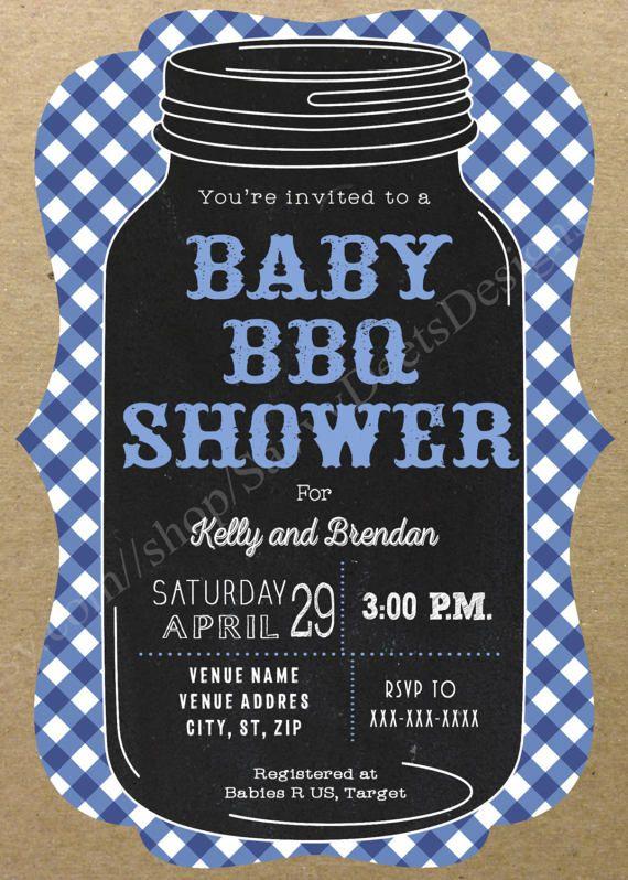 Boy Baby Q Invitation Printable