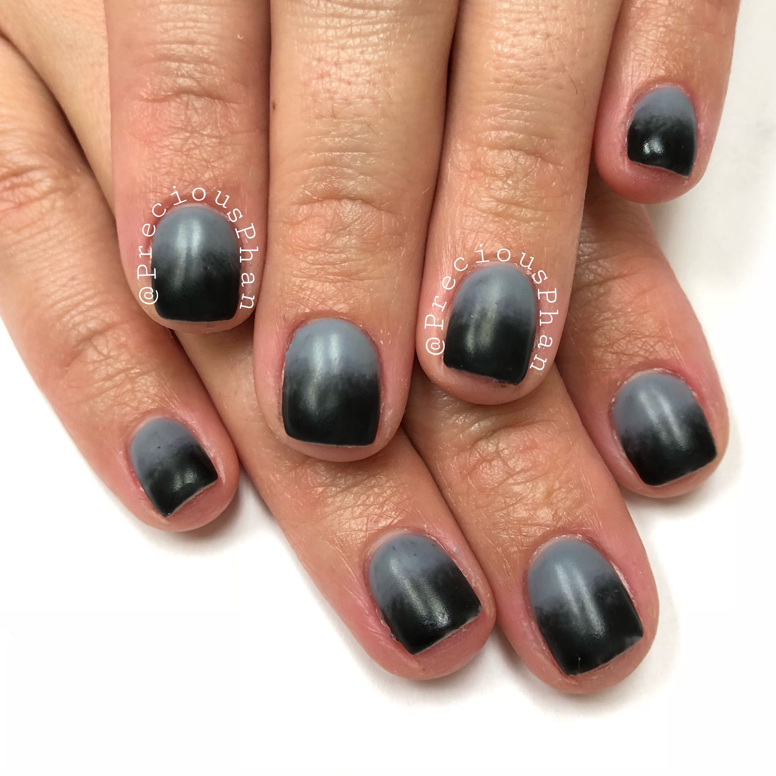 Ombre Nails Gray And Black Halloween Nails Preciousphan Halloween Nails Ombre Nails Gray Nails