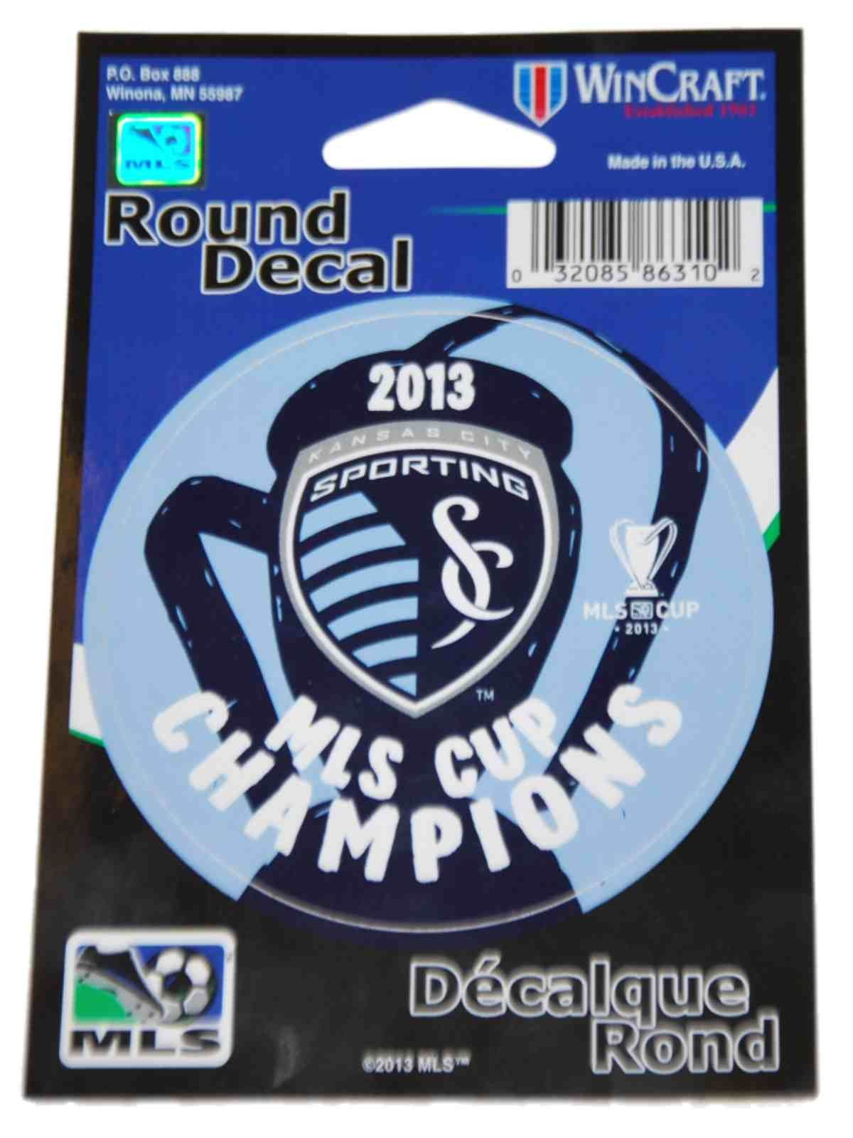 Sporting KC Kansas City Wincraft MLS Cup Champions Round - Sporting kc decals