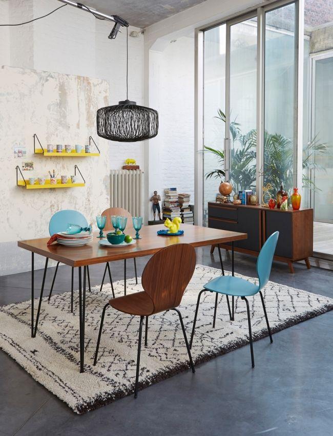 Tapis rectangle salle à manger La Redoute Rugs Pinterest - table salle a manger loft