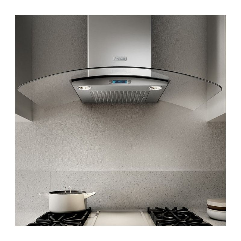 Elica Ecm630s3 Stainless Steel 160 600 Cfm 30 Inch Wide Professional Grade Wall Mount Range Hood With Electronic Controls And Stainless Steel Mesh Filters Fro Range Hood Wall Mount Range Hood Cooker Hoods