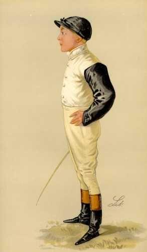 Fred Barrett as caricatured in Vanity Fair, 1889    http://www.antiquemapsandprints.com/scansj/j-20127.jpg