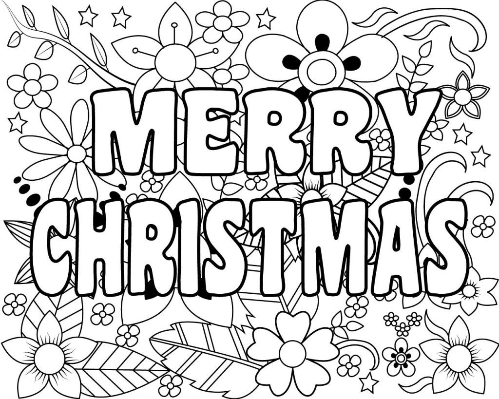 Merry Christmas Coloring Pages for Adults Printable