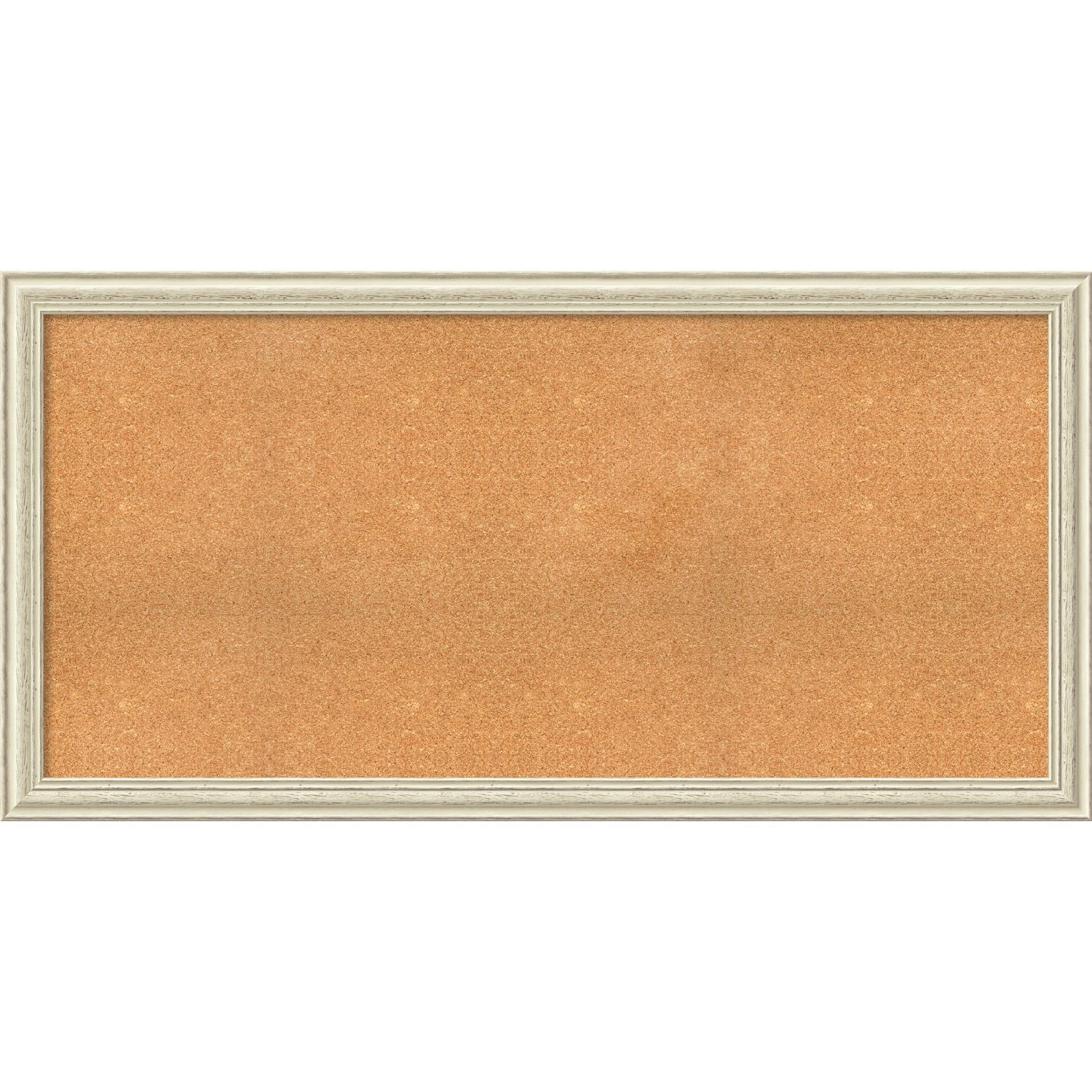 Framed Cork Board, Choose Your Custom Size, Country White Wash