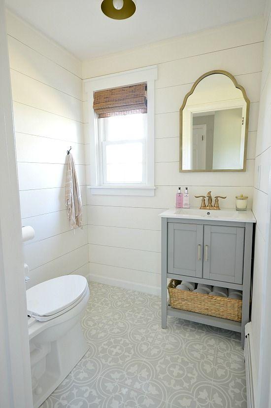 Glam Farmhouse Powder Room Makeover Powder Room Renovation Farmhouse Powder Room Bathrooms Remodel