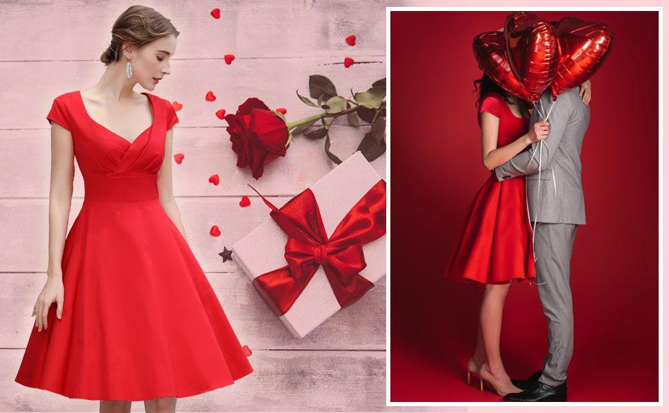 5649efc329c Kurzes Kleid Valentinstag Abiball hübsch