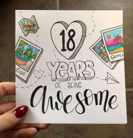 42+ Ideas birthday 18th card #birthday   Birthday cards ...
