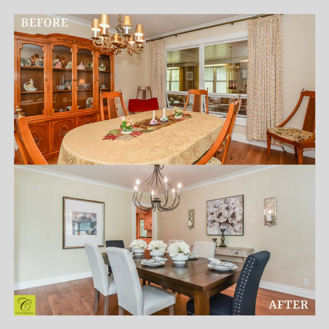 Home Staging Dining Room Table: Pin By Centre Staged Inc. On Our Portfolio