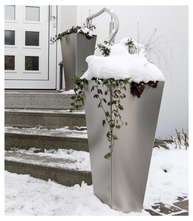 Pflanzgefass 79 Cm Edelstahl Pflanzgefasse Wohnen Und Garten Und