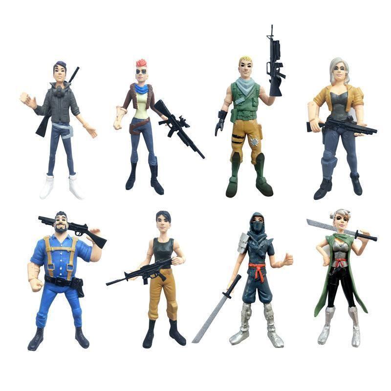 New 8pcs Lot Hot Game Fortnite Action Figure Toys 12cm Acrylic