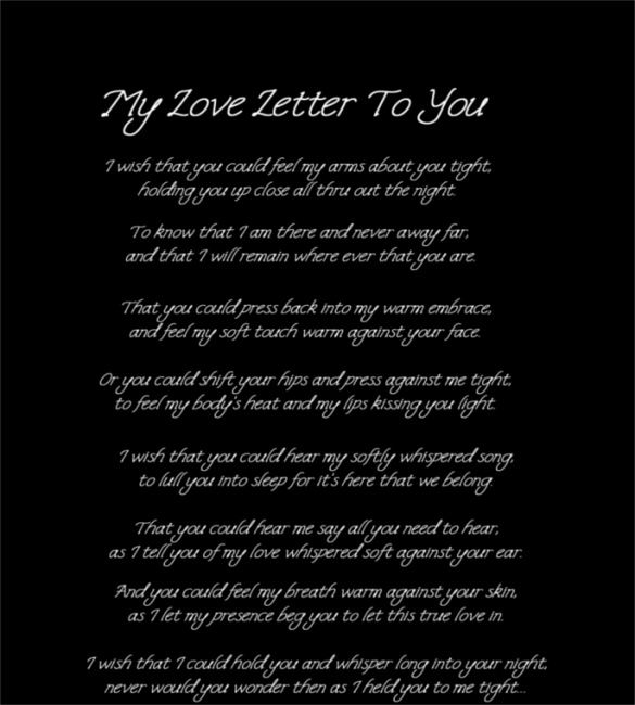 15 Love Letters For Him Free Sample Example Format Download