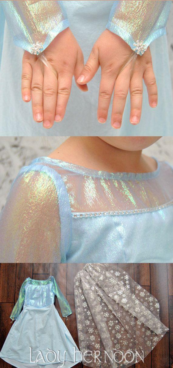 Mein Märchen: Elsa Kleid von Disney ist gefroren in Größen 2 t, 3 t ...