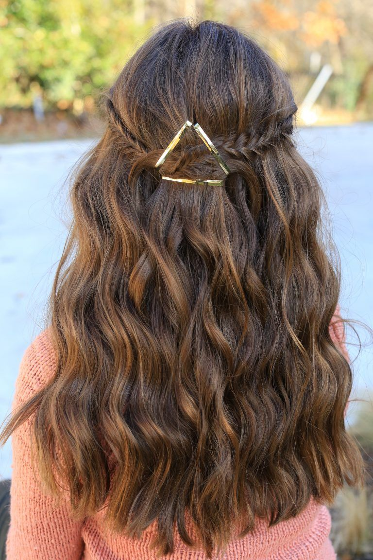 Barrette Hairstyles Simple Barrette Tieback  Cute Girls Hairstyles  Happy Hair Pinterest