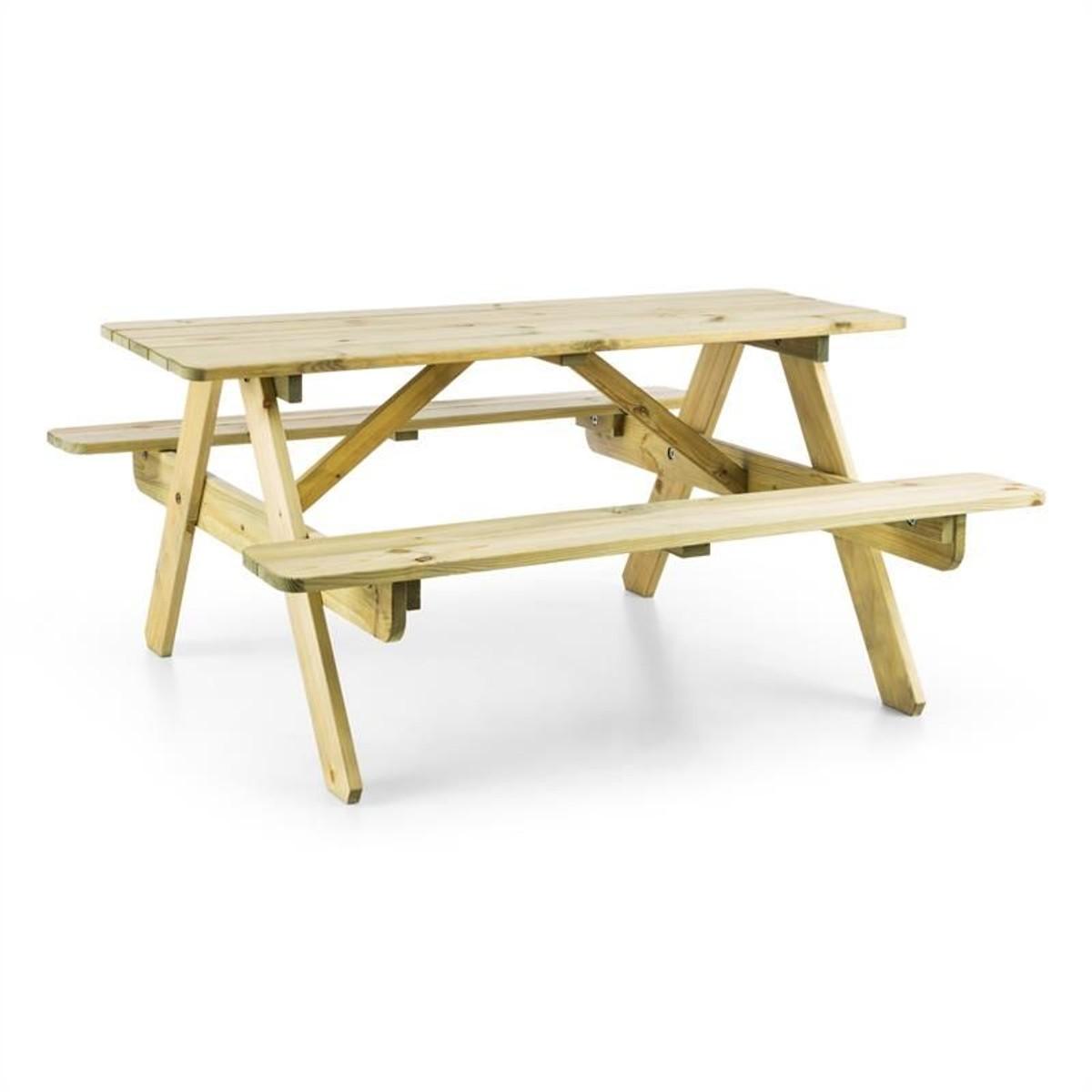 Table De Pique-Nique Avec Banc Meuble Jardin Pour Enfants - Bois ...