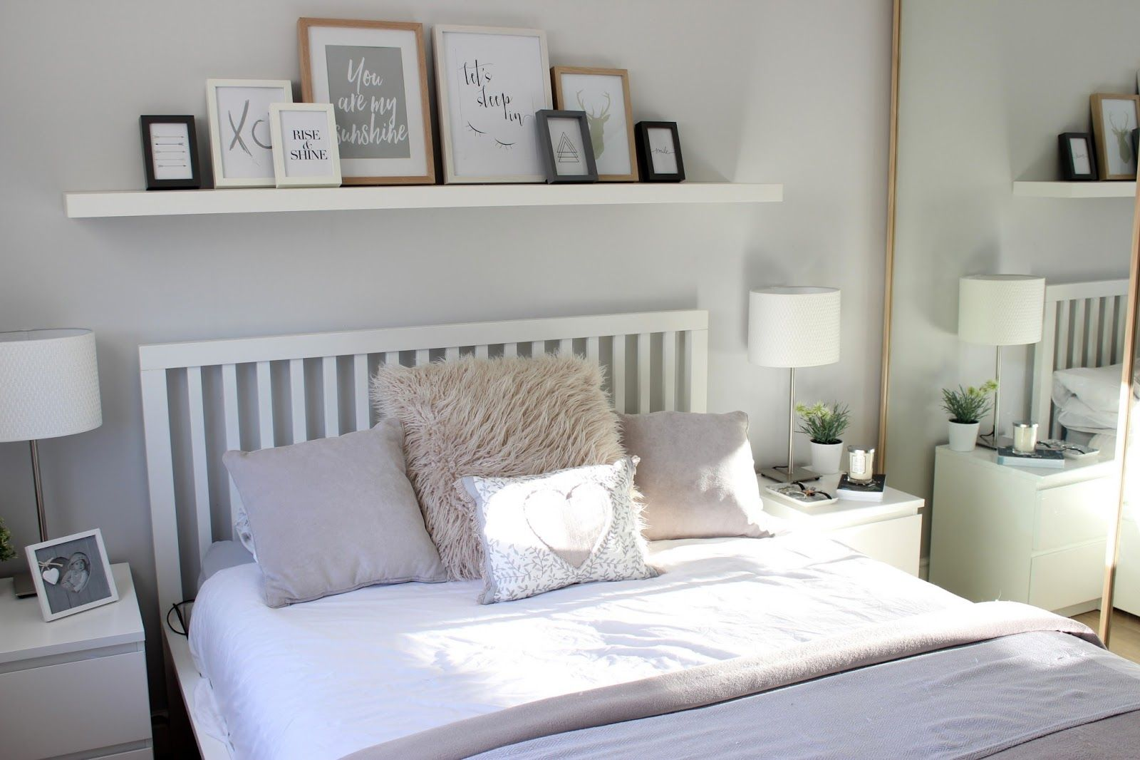 Shelves for ikea hacks to up your game this - Schlafzimmer graue wand ...