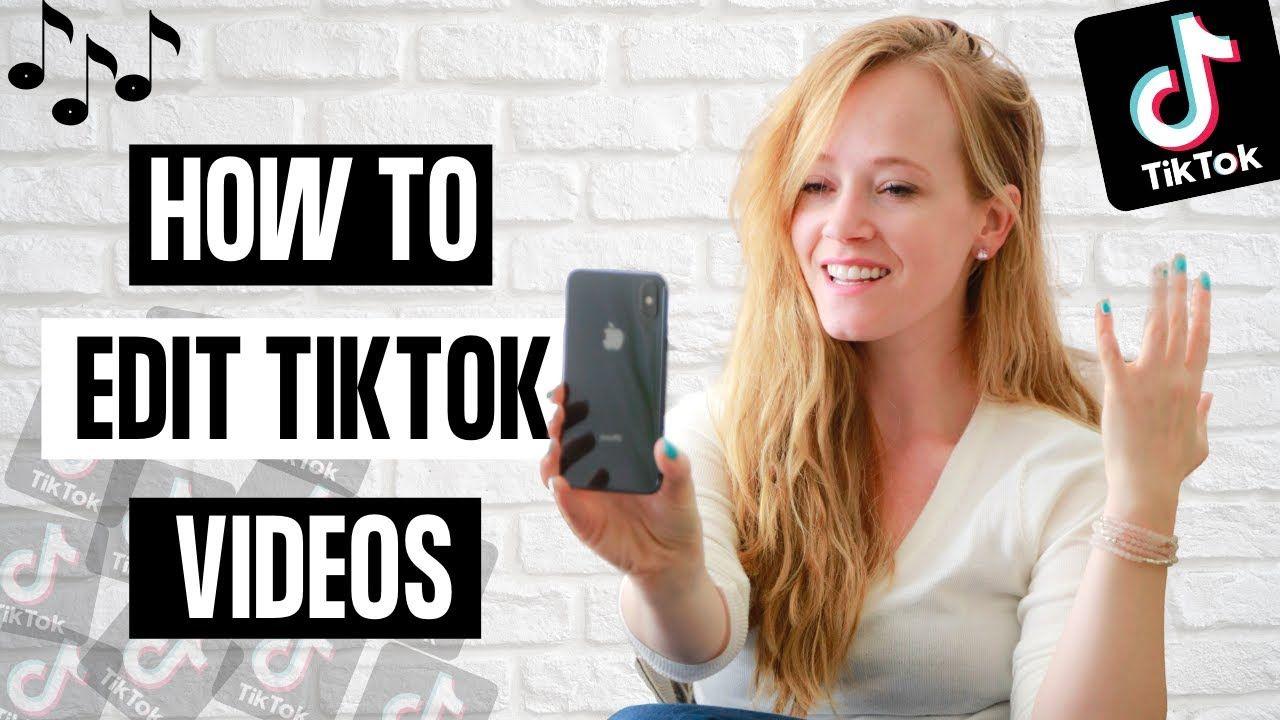 How To Edit A Tiktok Video 2020 Tik Tok Editing Tutorial Editing Tutorials Marketing Strategy Social Media Social Media Schedule