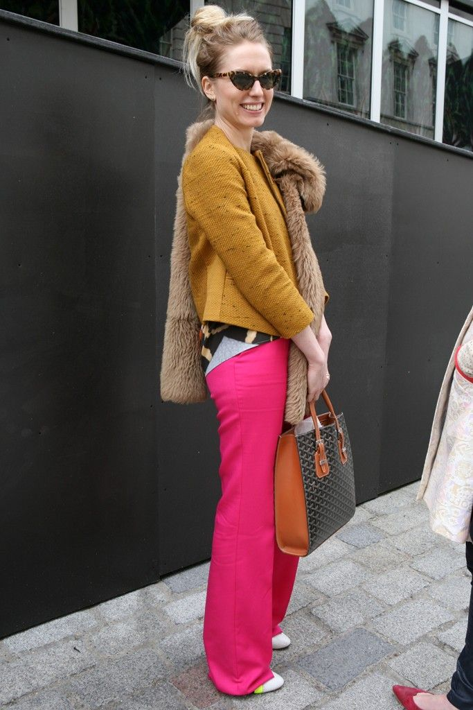 London Fashion Week street style. [Photo by Merry Brownfield]