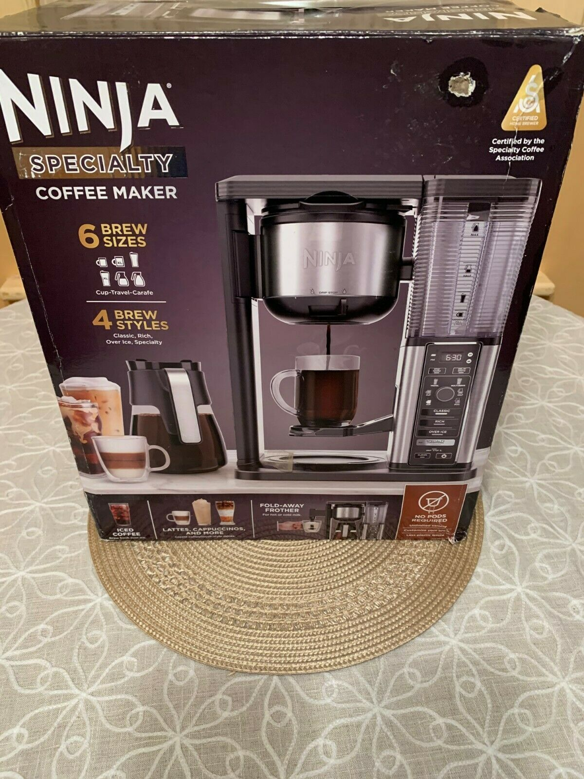 Ninja CM401 Specialty FoldAway Frother Coffee Maker