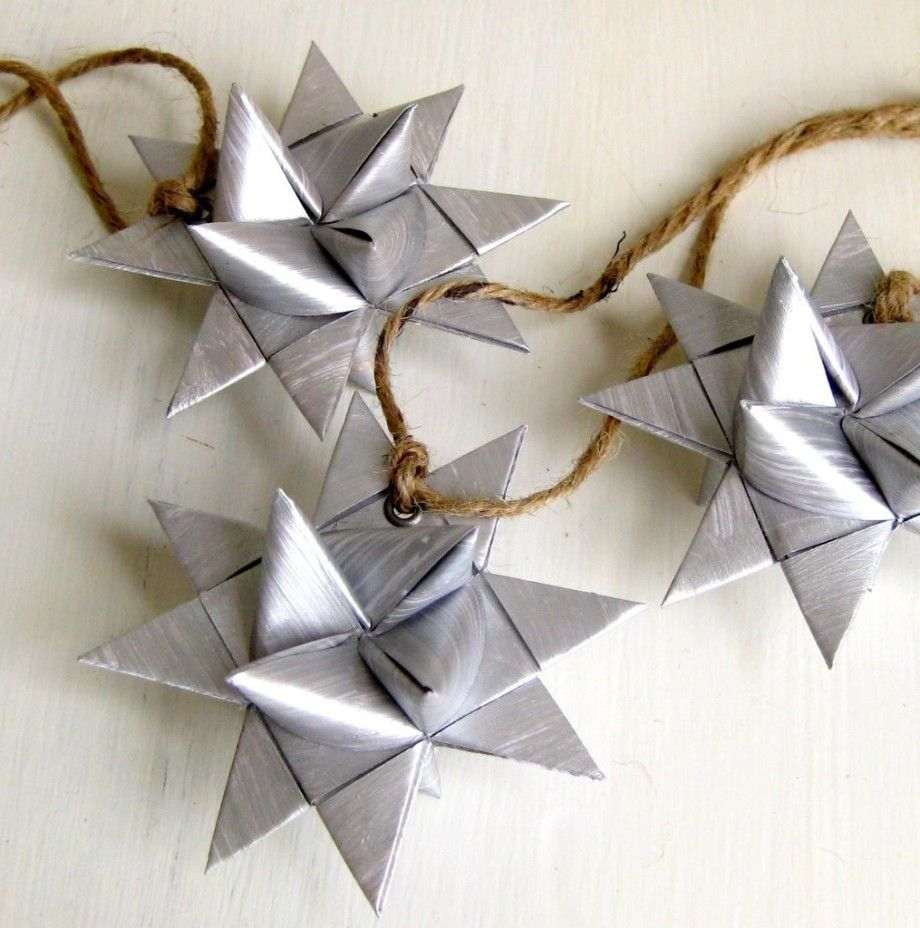 How to make a 3d star christmas decoration - Christmas Origami Star Silver Paper Decoration