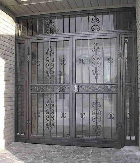 victorian-entry-door-security-bars | gates | Pinterest | Doors, Iron ...