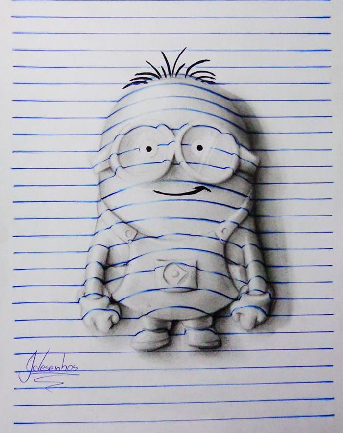 16 year old artist creates 3d doodles that leap off the page bored panda
