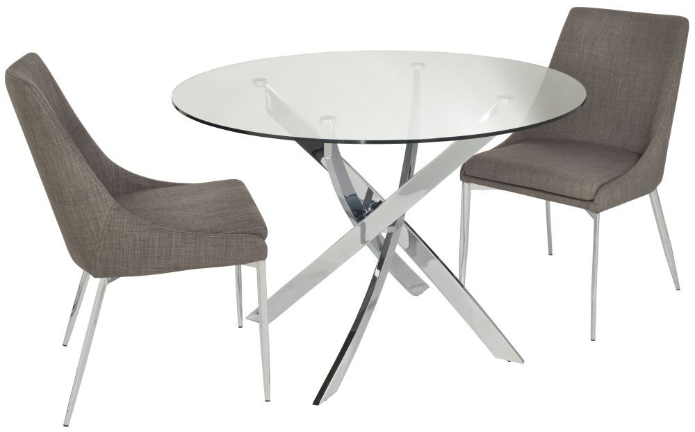 Cluster Small Circular Dining Table With 2 Chairs Dining Room