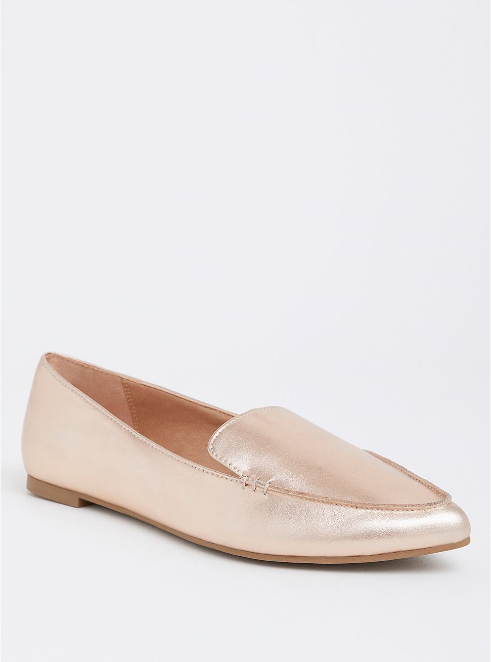 8b7c840980a Rose Gold Pointed Toe Loafer (Wide Width)