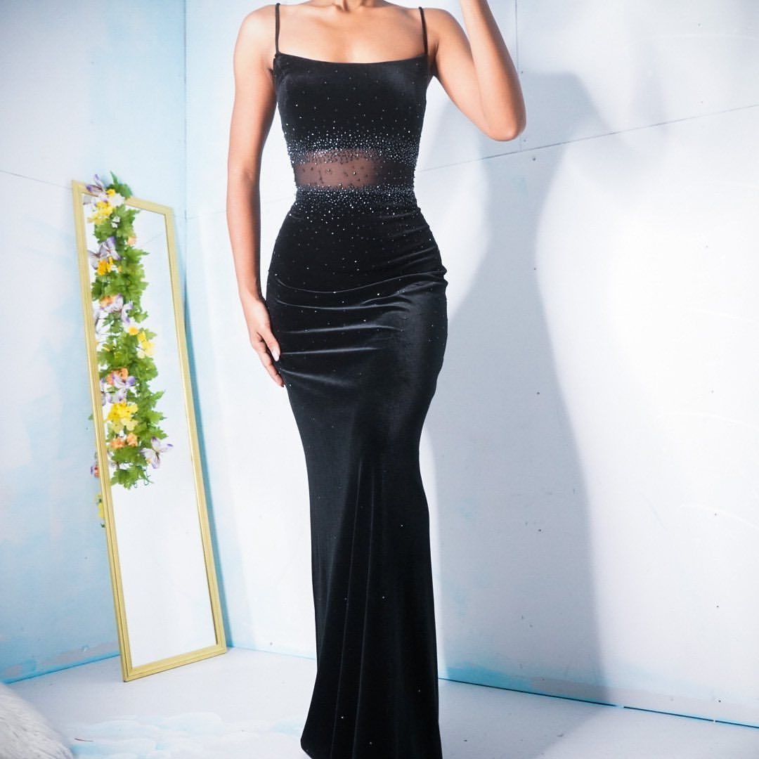 Sold Vintage 90 S Velvet Gown With Beading And A Sheer Mesh Panel Size S Please Click The Link In The Bio To Shop Dresses Prom Outfits Ball Dresses [ 1080 x 1080 Pixel ]