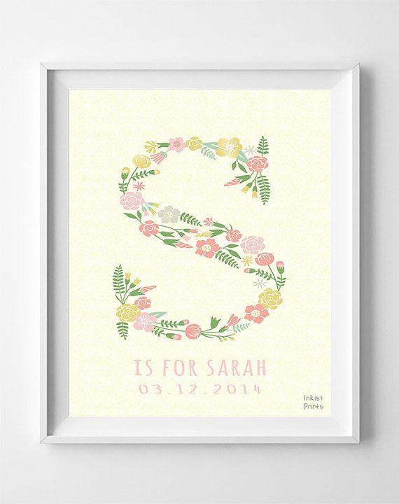 Custom baby name sarah art letter s sophie sarah by inkistprints custom baby name sarah art letter s sophie sarah by inkistprints negle Gallery