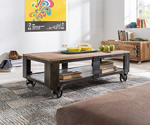 Wohnzimmertisch Nijaz Mango Eisen 120x60 cm Couchtisch online