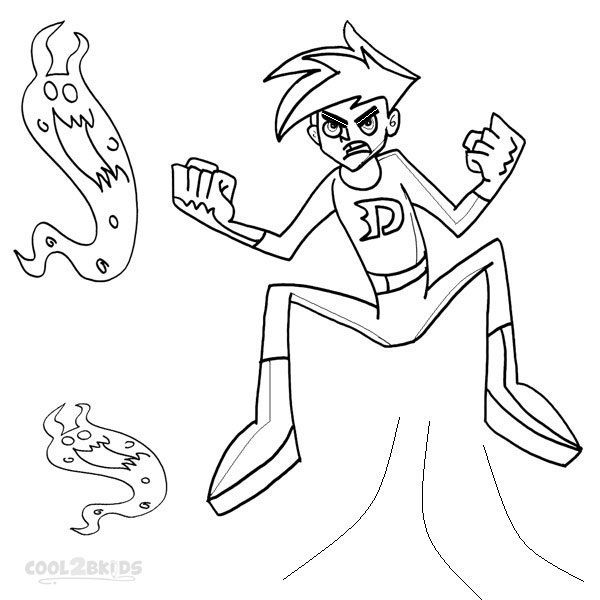 Beautiful Printable Danny Phantom Coloring Pages For Kids | Cool2bKids