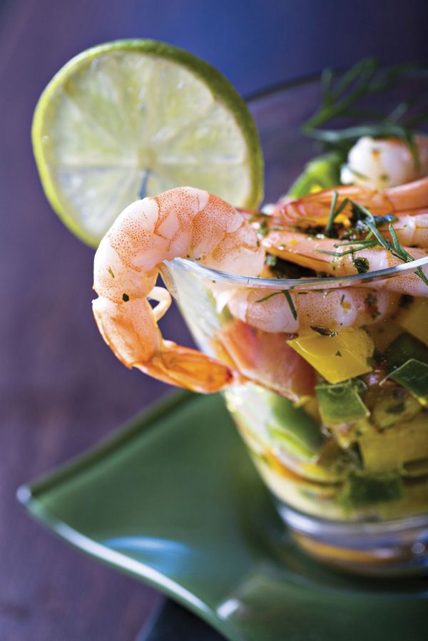 Aloha #grilled #shrimp cocktail with #mango #salsa #recipe