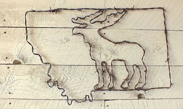 Montana Moose Wire Wall Art Wire Wall Art Rustic Wall Art Rustic Wall Sign