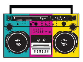 Boom Box wall decals | SS: Neon Cocktail Party | Pinterest ...